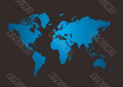 world map shine