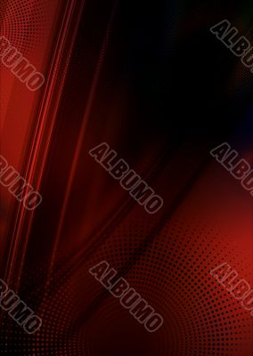 Red abstract flow
