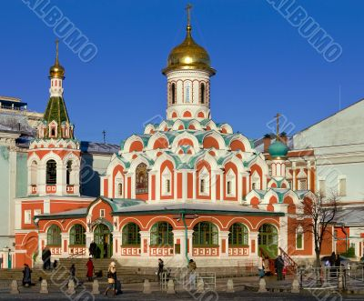 View on the Church of Kazan Icon of the Virgin