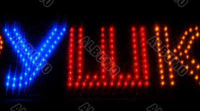 Colour LED Lights