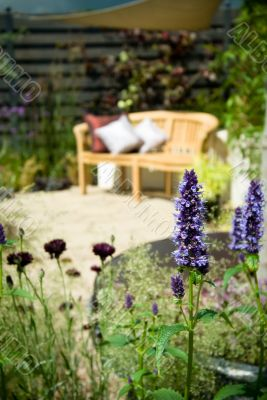 garden furniture and cushion