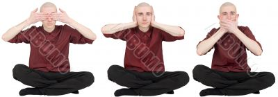 See no evil, say no evil, hear no evil