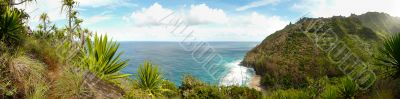Panoramic view from Kalalau trail