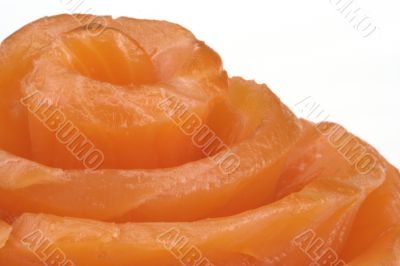 Fillet of a smoked salmon.