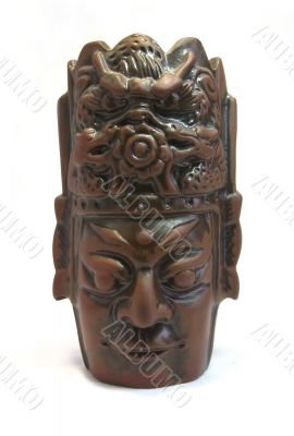 ceramic mask front isolated