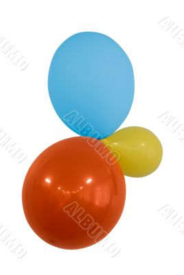 three balloons with clipping path