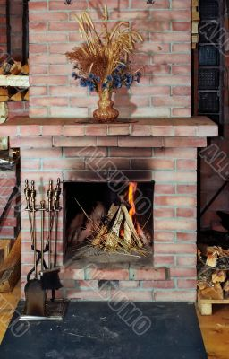 Village fireplace