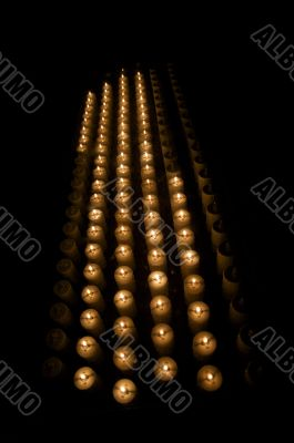 vertical group of candles