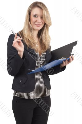 Beautiful blonde businesswoman