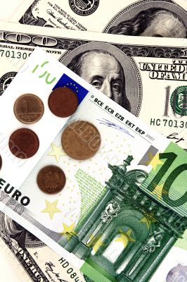 Hundred dollar and euro