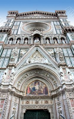 Fragment of cathedral in Florence