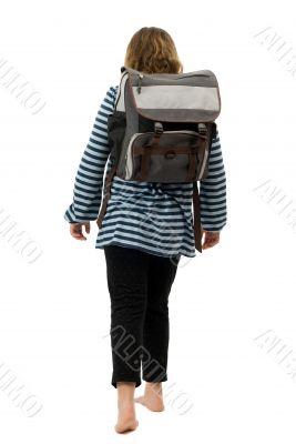 Girl Walking To School
