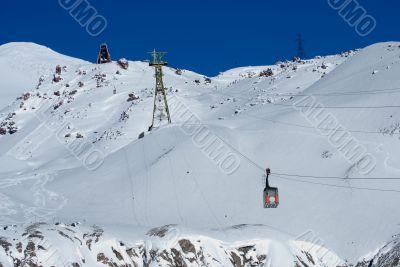 On slope of Elbrus