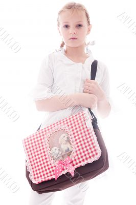 Child with a bag
