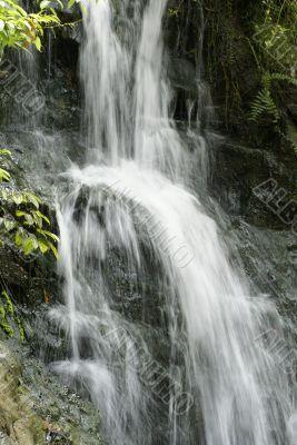 Waterfall amidst some greenery