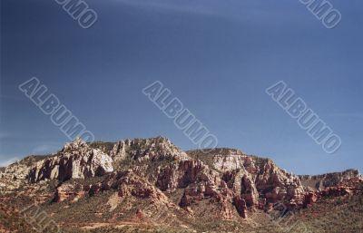 Desert red rock hills