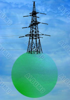 high-tension wire