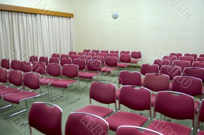 Rows of seats of a functional hall