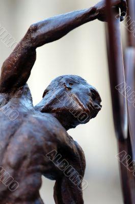 Pose of gymnast statue
