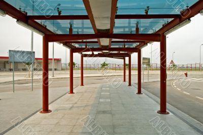 Bus stop terminal