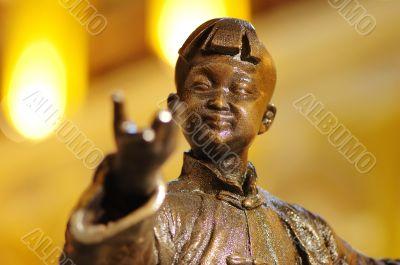 Statue of Kungfu kid