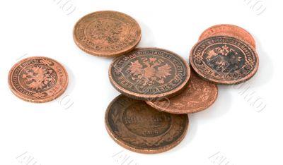 Antique bronze Russian coin