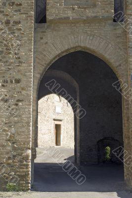 Castle of Torrechiara, entrance