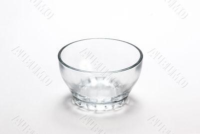 Empty transparent  bowl