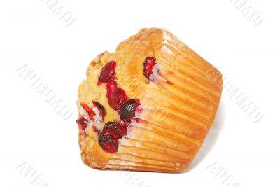 Cranberry cake close-up