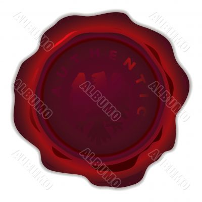 wax seal round dark