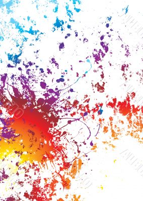 grunge rainbow weathered