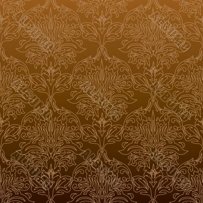 Seamless outline orange