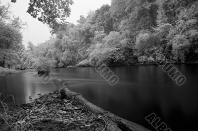 Peaceful Scene of Mae Ngao River - Infrared