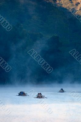 Rafting in the cold
