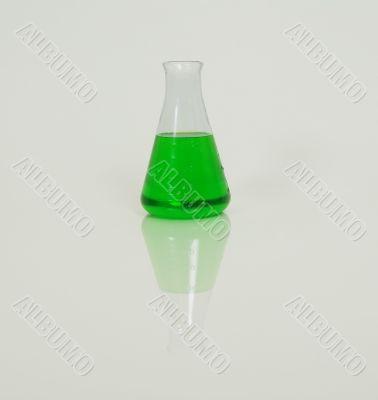 Beaker of green liquid