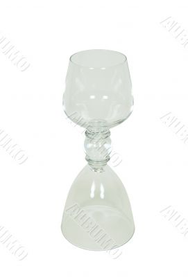 Double drinking glass