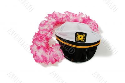 Lei and Nautical Cap