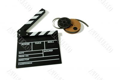 Movie marker board and film