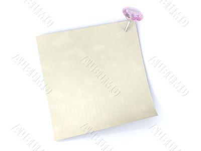 Sticker is pinning with diamond pin