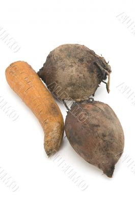 boiled beet and carrot