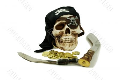 Pirate skull and booty
