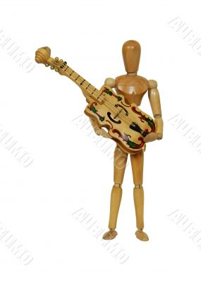 Holding musical instrument