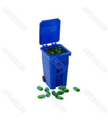 Recycling bin going green