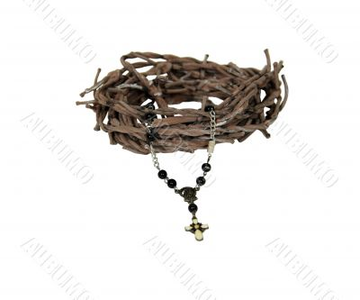 Rosary and crown of thorns