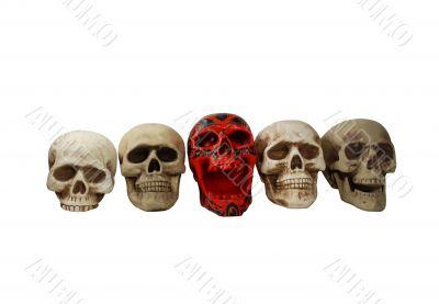 Skulls in a row