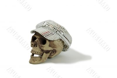 Cap with sparkle dots on skull
