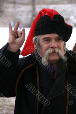 Old ukrainian Cossack