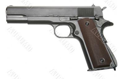 isolated modern firearm pistole gun