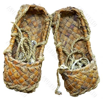 ancient woven bast sandals