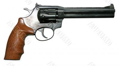 isolated modern revolver pistole gun